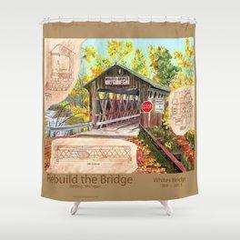 Rebuild the Bridge Shower Curtain