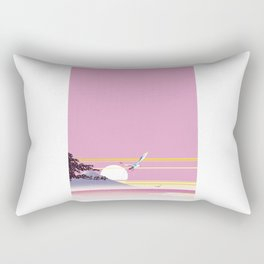 Seagull of morning glow Rectangular Pillow