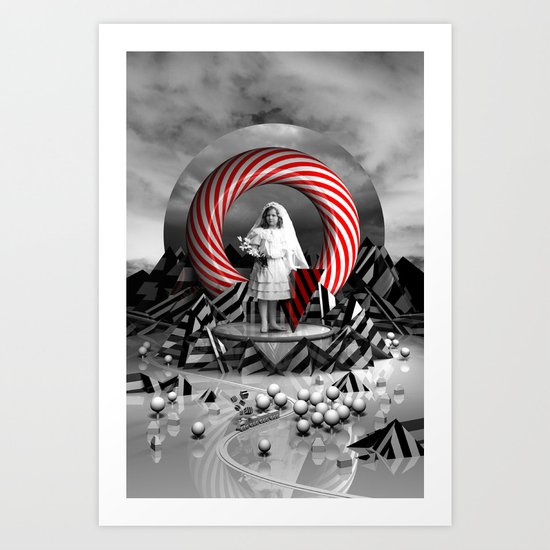 Little girl Art Print