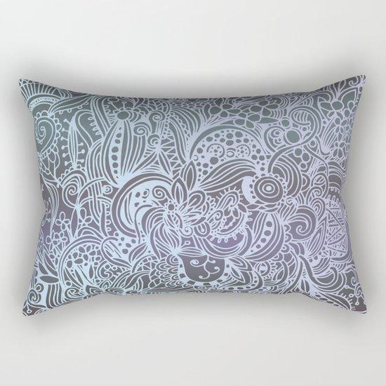 Detailed square, grey'n wedgwood Rectangular Pillow
