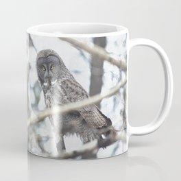 Let Us Prey - Great Grey Owl & Mouse Coffee Mug