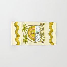 stay golden sun child //retro surf art by surfy birdy Hand & Bath Towel