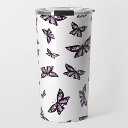 Fly With Pride: Asexual Flag Butterfly Travel Mug