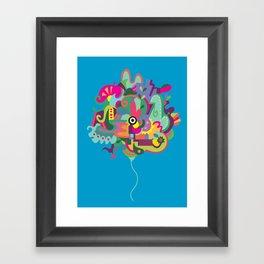 a happy doodle balloon Framed Art Print