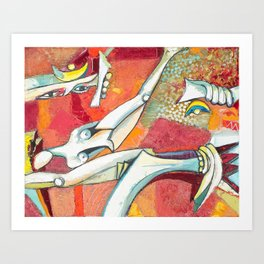 Senderos Art Print