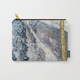 To the Mountains: a minimal abstract mixed-media piece by Alyssa Hamilton Art Carry-All Pouch