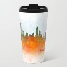 New York City Skyline Hq V03 Travel Mug