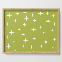 Mid Century Modern Star Pattern 443 Chartreuse Serving Tray