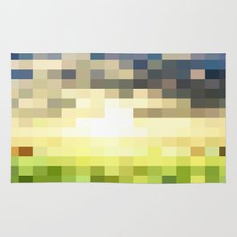 Pixel Sunset Rug