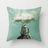 rain Throw Pillows featuring Rain by Seamless