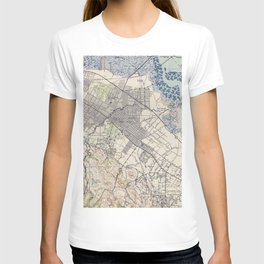 Old Map of Palo Alto & Silicon Valley CA (1943) T-shirt
