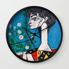 Pablo Picasso Jacqueline With Flowers 1956, T Shirt, Artwork Wall Clock