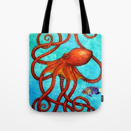 Distracted - Octopus and fish Tote Bag