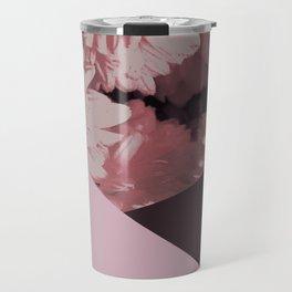 Pink mums geometrical collage Travel Mug