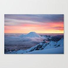 Sunrise on Mt Ngauruhoe  Canvas Print