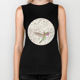 Clockwork Hummingbird Biker Tank