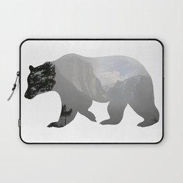 Grizzly Bear with Yosemite Photo Inlay Laptop Sleeve