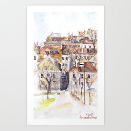 Old Town in Warsaw Poland Art Print