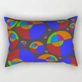 Bubble red & blue 09 Rectangular Pillow