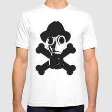 Man in the Mask MEDIUM Mens Fitted Tee White