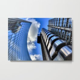 Lloyds of London and Willis Group Buildings Metal Print