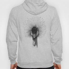 Black Crowned Crane G2012-065 Hoody