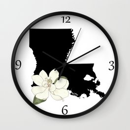 Louisiana Silhouette Wall Clock