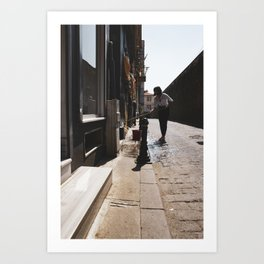 Urban photography, colorful print, street photography, Daytime job and morning sun Art Print