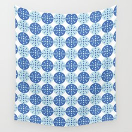 pattern blue Wall Tapestry