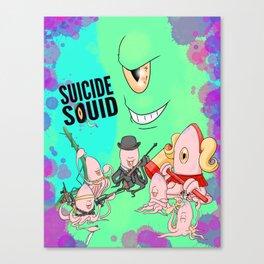 Suicide Squid Canvas Print