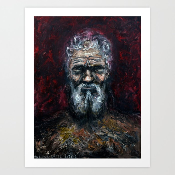 Michelangelo Buonarroti (oil on canvas) Art Print