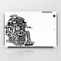cafe iPad Cases featuring CAFE by TortueMasquee