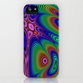 Fractal Op Art 11 iPhone Case