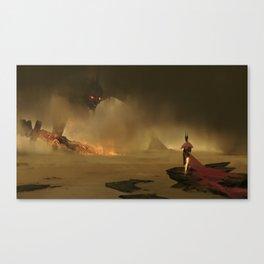 Hero vs Giant Canvas Print