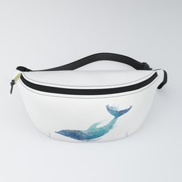 Watercolor playing Dolphin Fanny Pack