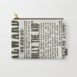 Wanted poster for Billy the Kid Carry-All Pouch