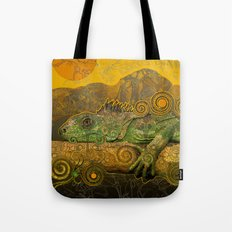 Just Chilling and Dreaming...(Lizard) Tote Bag