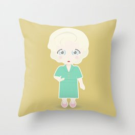 Girls in their Golden Years - Rose Throw Pillow