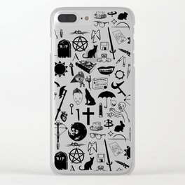 Buffy Symbology, Black Clear iPhone Case
