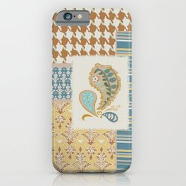 Heirloom Vibe Patchwork Dulcimer Colorway iPhone Case