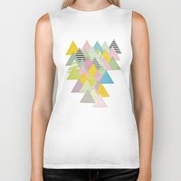 french Biker Tanks featuring French Alps by Cassia Beck