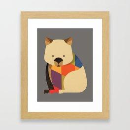 Wombat Framed Art Print