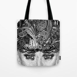 Courage Monotone Tote Bag