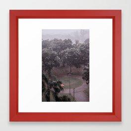 The lonely umbrella. (Subang Jaya, 2013) Framed Art Print