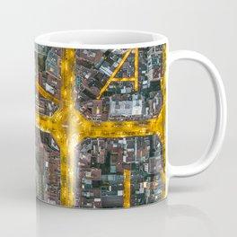 The grid of Barcelona at night Coffee Mug