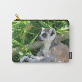 Cute and relaxed Ring-tailed lemur (lemur catta) Carry-All Pouch