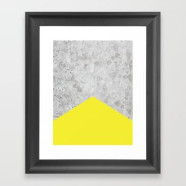 Concrete Arrow Yellow #193 Framed Art Print