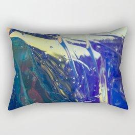 Abstract sunrise - orange, blue and yellow - Rectangular Pillow