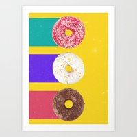 donuts Art Prints featuring Donuts by Danny Ivan