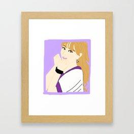 Knock Knock! Jihyo Purple Framed Art Print